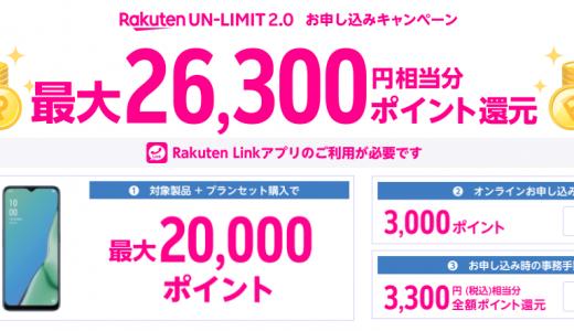 楽天アンリミット(Rakuten UN-LIMIT)のキャンペーンまとめ