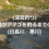(渓流釣り)初心者がアマゴを釣れるまでの記録(日高川・寒川)
