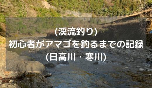 (渓流釣り)初心者がアマゴを釣るまでの記録(日高川・寒川)