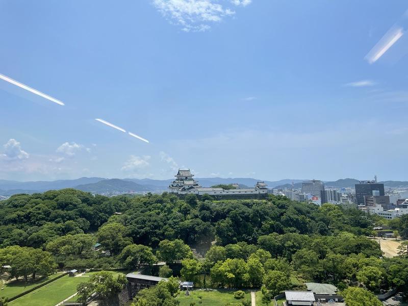 和歌山城を一望